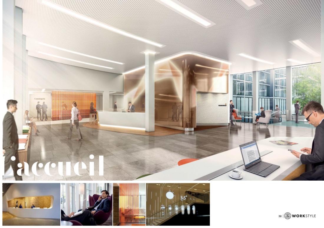 plateaux de bureaux immeuble CAPITAL 8