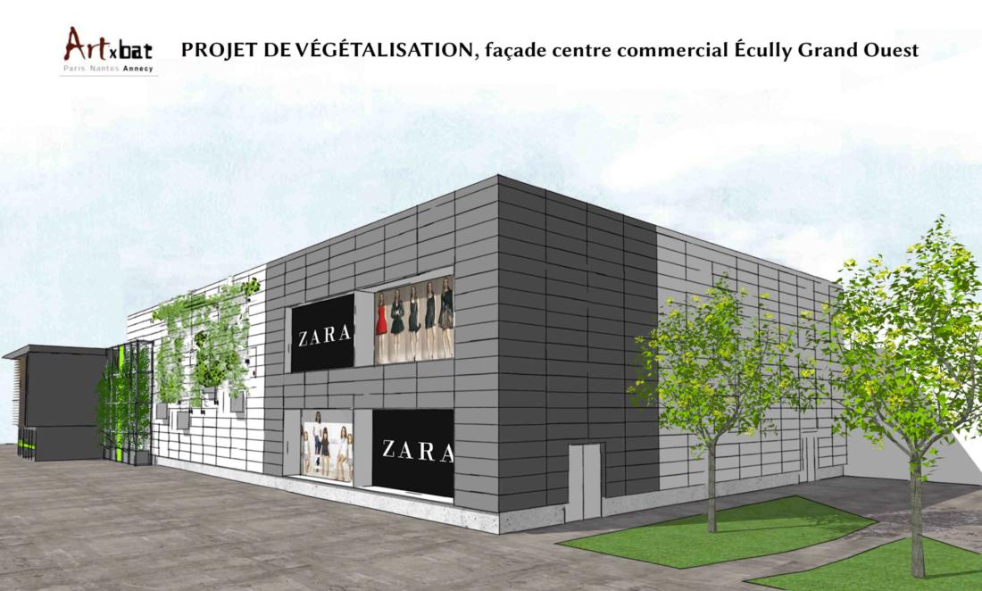 Plan 3D du centre commercial à Ecully