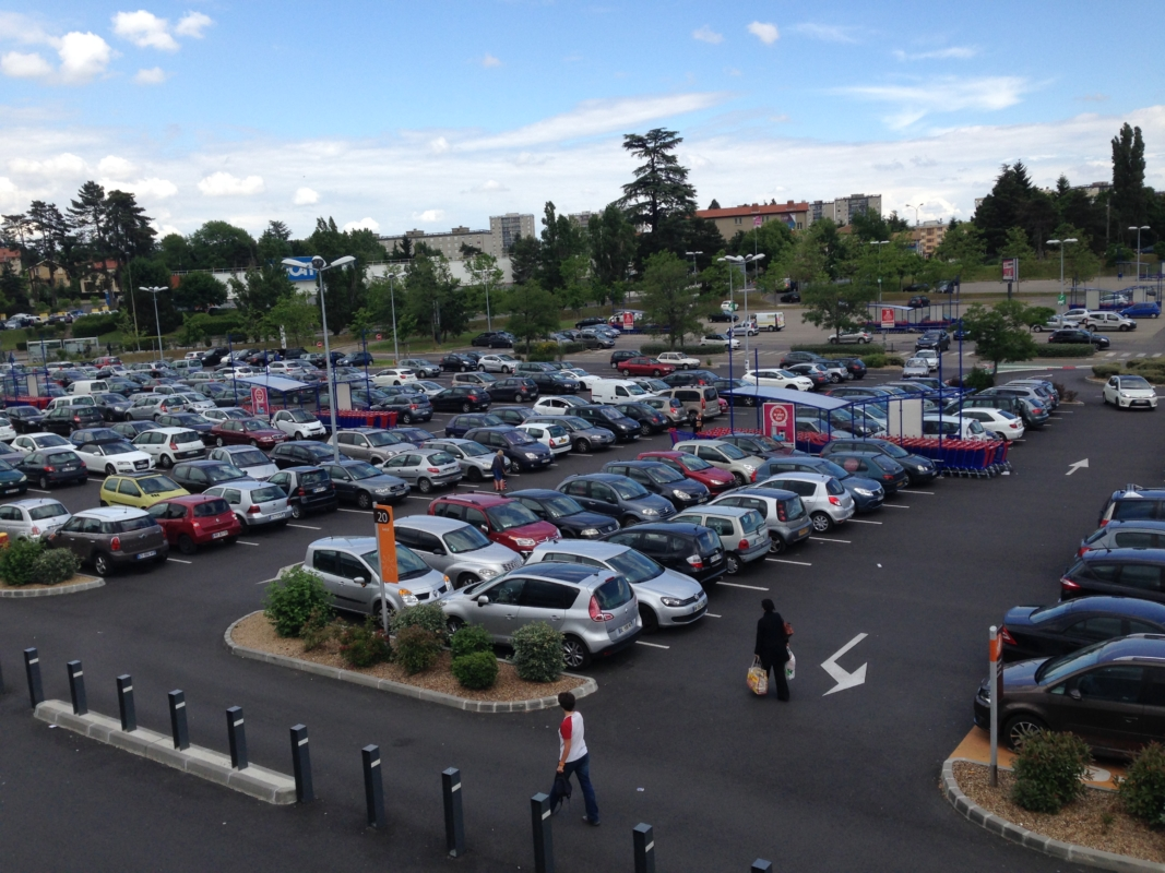 Réfection du parking du Centre Commercial Ecully Grand Ouest