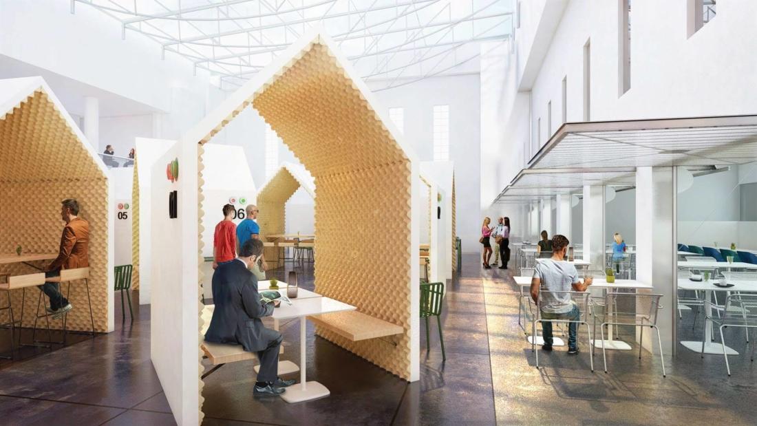 Réaménagement du rez-de-chaussée du bâtiment Aphelion, quartier Forum Seine, ALLIANZ