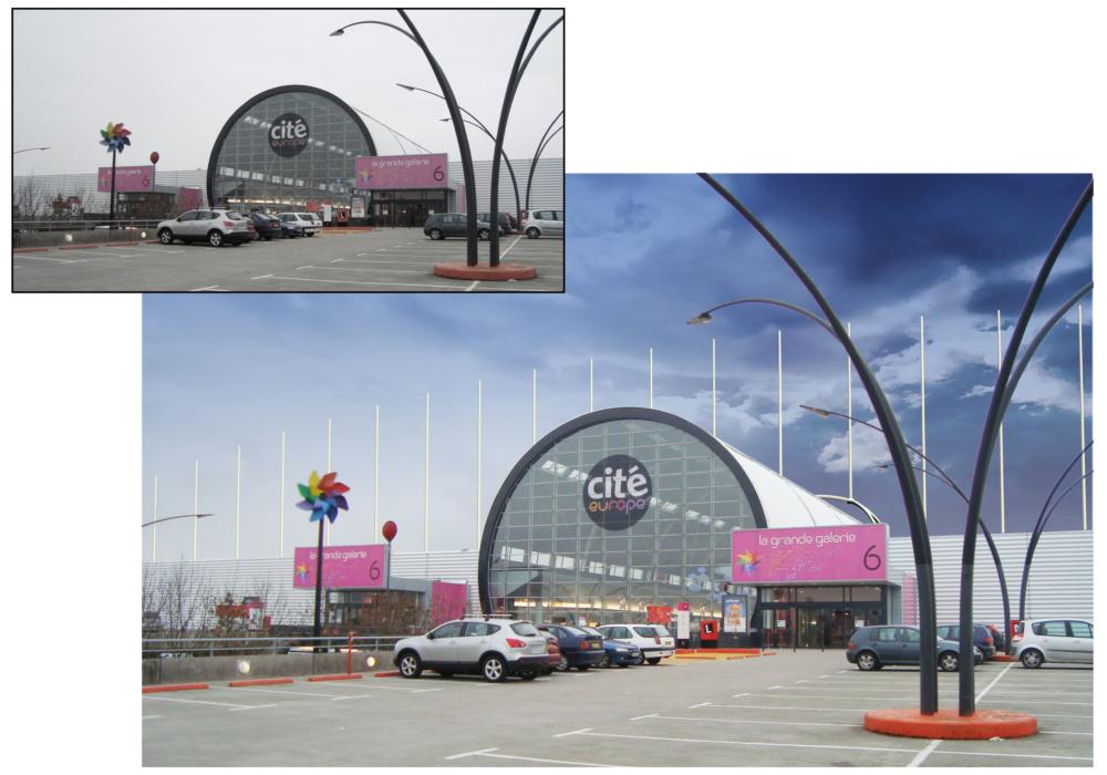 Remplacement des mâts du Centre Commercial Cité Europe