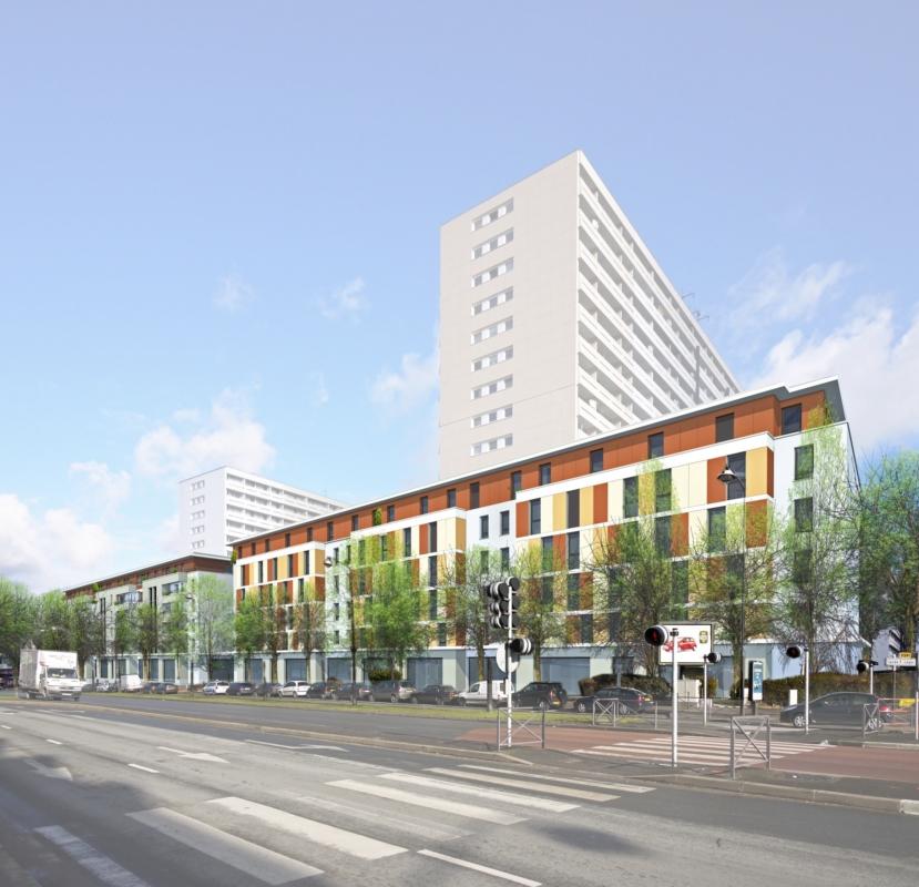 Construction de 142 chambres et commerces pour GAMBETTA LOCATIF