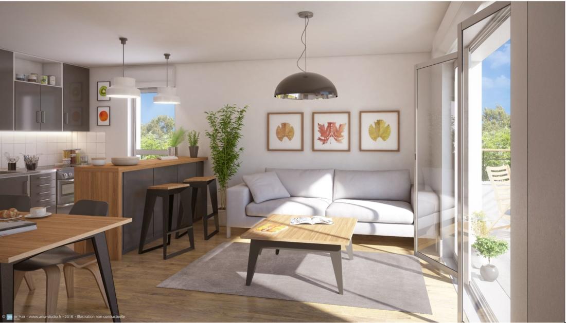 Construction Les Floréales de 13 appartements et 10 maisons pour le GROUPE GAMBETTA