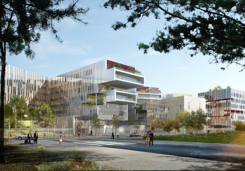 Construction du Campus SFR pour VINCI IMMOBILIER ENTREPRISES