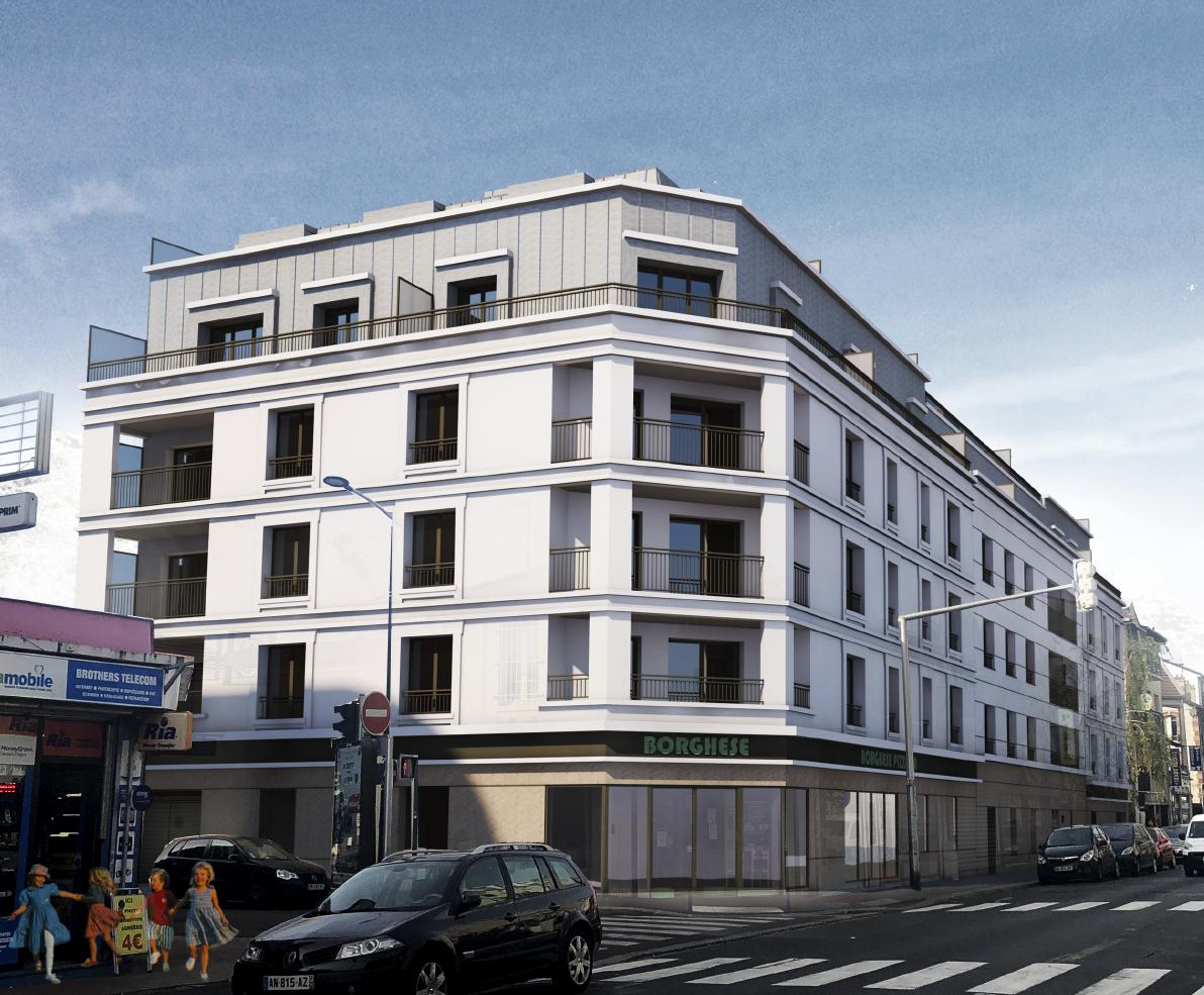 BRICQUEVILLE, Logements et restaurant, Drancy (Seine-Saint-Denis)