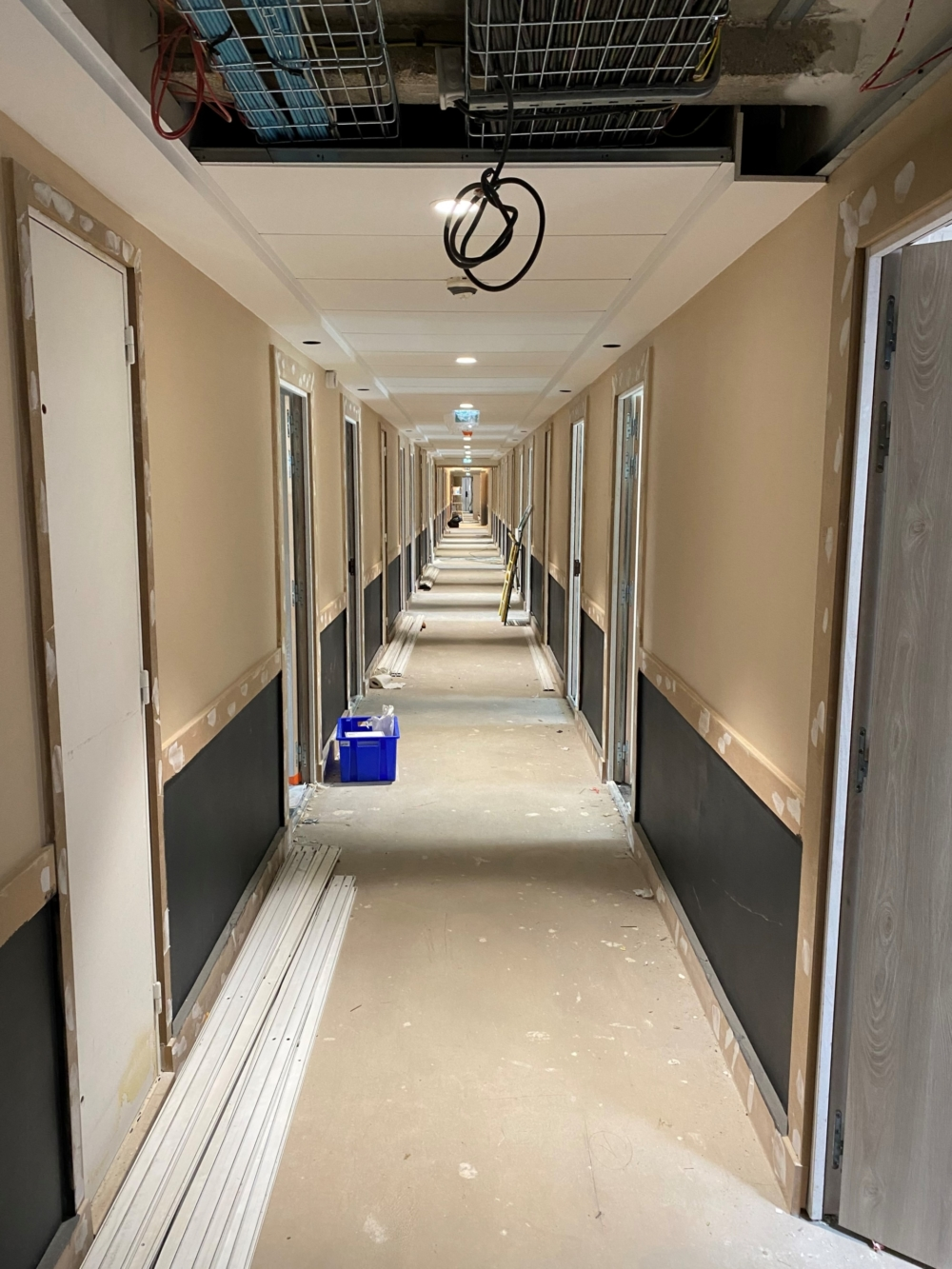 rénovation de l'hôtel NOVOTEL RENNES ALMA de 100 chambres situé rue du Canada à Rennes pour le Groupe le Duff