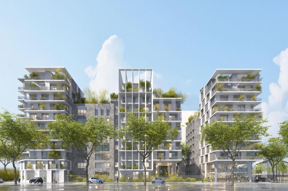 ensemble immobilier de 310 logements sur 12 bâtiments est en cours de réalisation par les opérateurs ALTAREA COGEDIM et OGIC, à Clichy