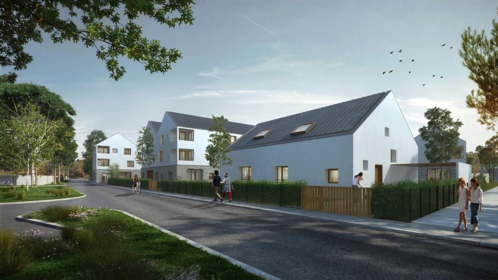 Immobilière 3F - construction de 51 logements répartis sur 5 bâtiments et 2 maisons avec parkings en sous-sols
