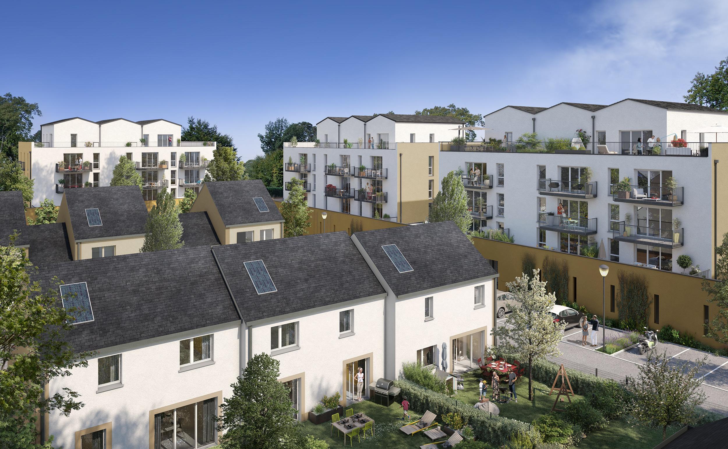 programme immobilier « Les Terrasses et Villas du Parc » réalisé par COVIVIO à Chartres