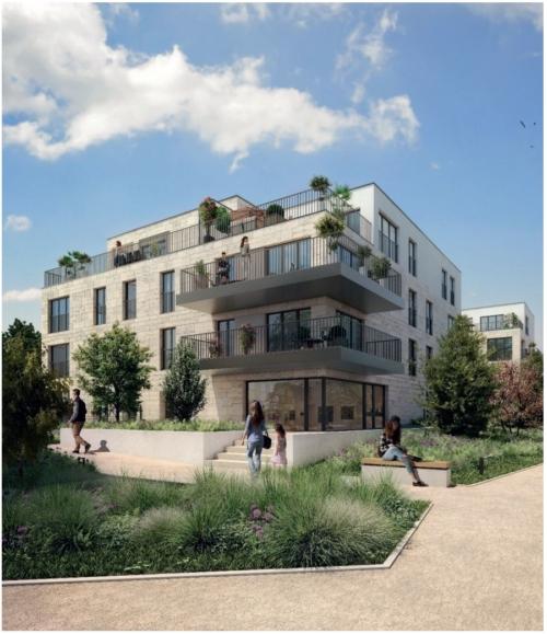 Les Nouveaux Constructeurs - construction des deux îlots A et H du programme immobilier neuf « Place et Villas » ZAC Jean Zay à Antony. Baptisés « Villa des Muses » et « Villa des Artistes ».