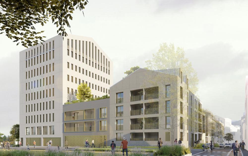 Giboire. construction d'un bâtiment de bureaux de 10 000 m² pour la Caisse des Dépôts
